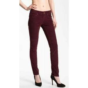 Free People Naroon Skinny Corduroy Pants Size 29